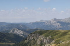 Mountain Piva. Montenegro Durmitor mountain.  Panoramic view to Piva mountain Royalty Free Stock Images