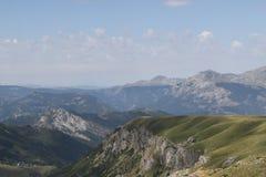 Mountain Piva. Montenegro Durmitor mountain. Panoramic view to Piva mountain royalty free stock images