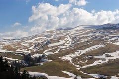 Mountain plateau Lago-Naki in Adygea, Russia. Spring on the Lago-Naki plateau, Russia Caucasus 2015 Stock Image