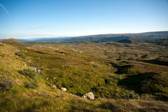 Mountain plateau Valdresflye, Jotunheimen Stock Photo