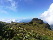 Mountain point of view in Guadeloupe royalty free stock photos