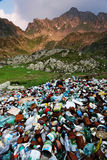 Mountain pollutiom Stock Photo