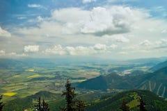 Mountain Poludnica, Zavazna Poruba - Slovakia. View from the top of the Poludnica on the Liptov Stock Photos