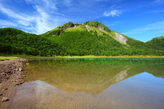 Mountain and pond Royalty Free Stock Photo