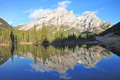 Mountain pond stock photography