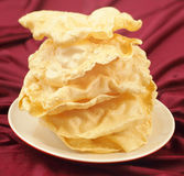 Mountain of poppadoms Royalty Free Stock Photography