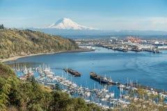 Mountain Port And Marina 4 stock photography