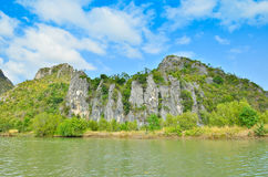 Mountain at Prachuap Khiri Khan Royalty Free Stock Photos