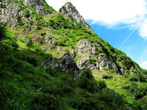 Mountain Slope Profile - Italian Alps Royalty Free Stock Images