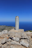 Mountain Puig de Galatzo summit in Majorca Tramuntana with Mediterranean Sea Royalty Free Stock Image