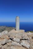 Mountain Puig de Galatzo summit in Majorca Tramuntana with Mediterranean Sea Royalty Free Stock Image
