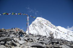 Mountain Pumori in the Everest mountain range Stock Image