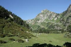 Mountain in Pyrenees. Mountain (Roc blanc) in Donezan,Ariège,Midi-Pyrénées region of france Stock Photos