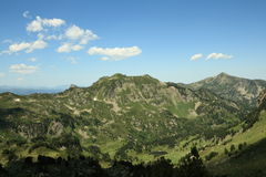 Mountain in Pyrenees stock images
