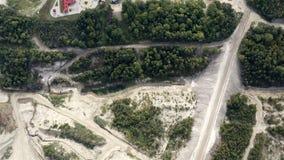 Mountain Quarry. Development of a loose deposit
