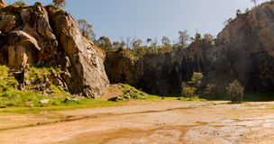 Mountain quarry rocks in Greenmount National park. Western Australia royalty free stock photos