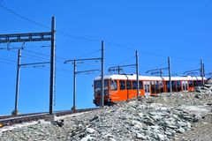 Mountain rack to Matterhorn, Switzerland stock photography