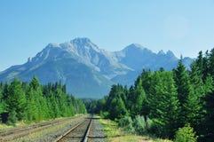 Mountain Rail Scene Stock Image