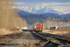 Mountain Rail Yard Royalty Free Stock Photography