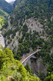 Mountain railway bridge Royalty Free Stock Images