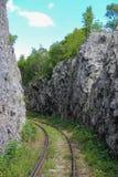 Mountain railway in Romania Stock Images