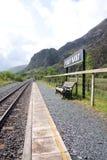 Mountain railway station stock image