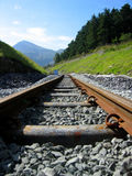Mountain railway tracks Stock Photos