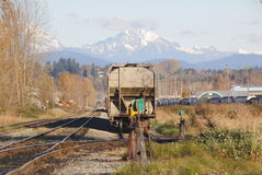 Mountain Railway Yard Royalty Free Stock Images
