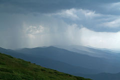 Mountain rain Royalty Free Stock Photography