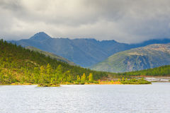 The mountain rain Stock Image