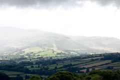 Mountain rain in Brecon Beacons Wales UK Stock Images