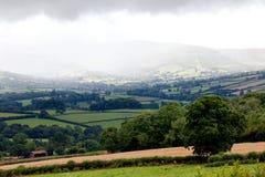 Mountain rain in Brecon Beacons Wales UK Stock Photo