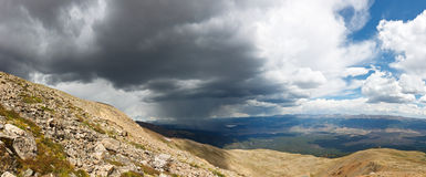 Mountain Rain Storm Panorama Stock Images