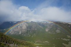 Mountain Rainbow Royalty Free Stock Photos