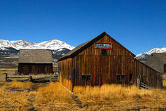 Mountain Ranch. Ranchero in the mountains of Colorado royalty free stock images