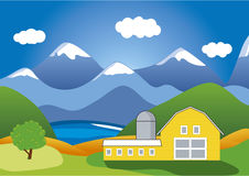 Mountain Ranch. A colorful vector illustration of mountain ranch Stock Photos