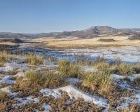 Mountain ranch at Colorado foothills Stock Photo