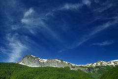 Mountain range. With blue sky Stock Image