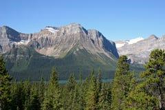 Mountain Range. And glacier lake in Banff National Park, Canada royalty free stock photos