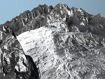 Mountain Range. Range of snow covered rocky mountains Stock Photos