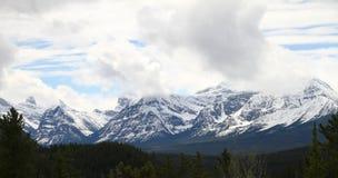 Mountain Range. In Banff National Park, Alberta Canada Royalty Free Stock Photo