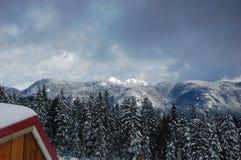 Mountain range. View from seymour mountain vancouver Stock Image
