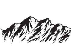 Mountain range stock illustration
