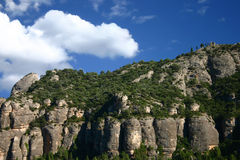 Mountain range. Against blue sky in Santa Barbara, Spain Stock Photo