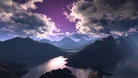 Mountain range Stock Images