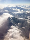 Mountain range from above Royalty Free Stock Photo