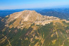 Mountain Range Aerial View, Oetscher Mountain Royalty Free Stock Photos