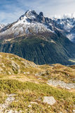 Mountain Range With Aiguille Verte - France Royalty Free Stock Image