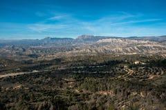 Mountain range in Alicante Stock Photography