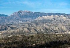Mountain range in Alicante Stock Photos